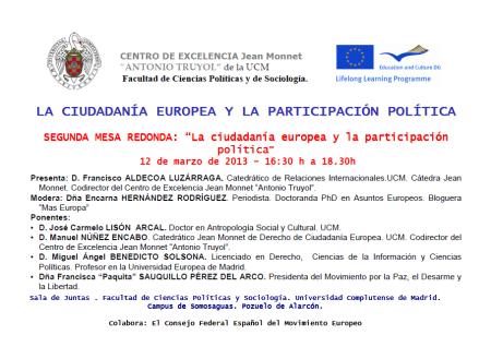 La participación política en el contexto de la Unión Europea, a debate